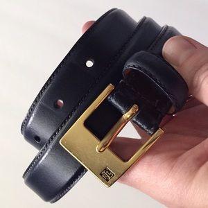 Ralph Lauren Italian Leather Belt Navy NWOT